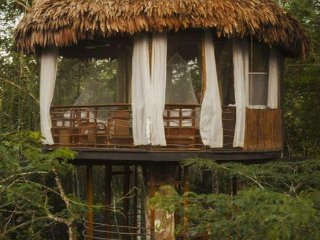 Treehouse 9 45 feet -Riverview sleeps 3 in 1 king or 2 twins +cot