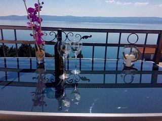 Appartement pour 8 personnes, vue sur l'ile de Brac
