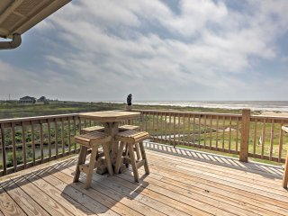 NEW! Beachfront 3BR Bolivar Peninsula Home w/Deck!