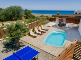 Villa Ira. Luxury beach villa. Private access to Gennadi Beach
