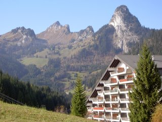 In Torgon, Switzerland, chalet apartment for 4 w balcony, stunning mountain view