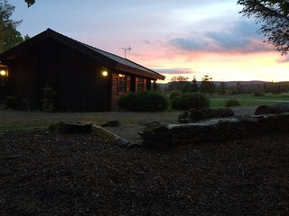 Spacious Solid Log Holiday Homes in 7 acre private grounds, perfect for luxury self catering breaks