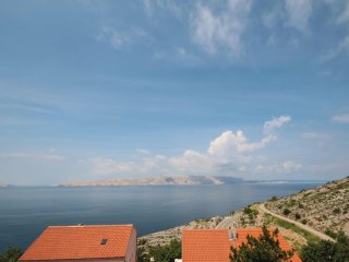Apartment with one room in Senj, with wonderful sea view and furnished terrace
