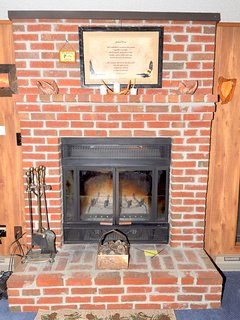 In the cooler months, curl up with a good book by the fireplace!