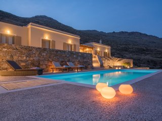 Syros beautiful sea view villa Blue Line with swimming pool