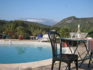 Bright villa w/ pool access & views