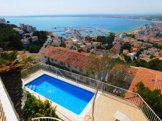 Casa de vacaciones con espectaculares vistas al mar en Puig Rom, Roses