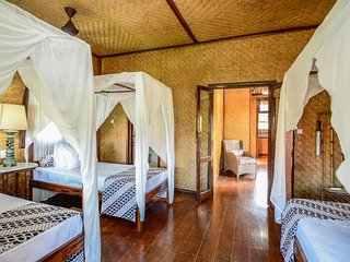 Aashaya  Jasri Resort Villa Kayu C Triple bedroom on top floor.