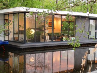A stunning architect designed contemporary houseboat.