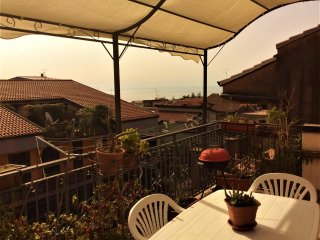 Apartment with 2 rooms in piedimonte etneo, with terrace 14 km from the beach!