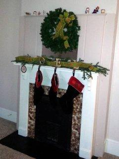 LR fireplace dress for Christmas