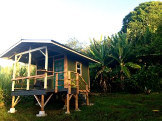Private Tropical Hawaiian Retreat with oceanview on offgrid 20 acre organic farm