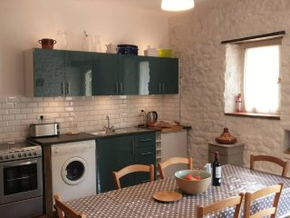 Cottage No.4 kitchen area. We provide a hamper of provisions to get you started.