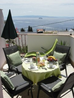 Terrace with a  view to the sea