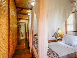 Aashaya Jasri Resort Villa Kayu D Twin bedroom on top floor.