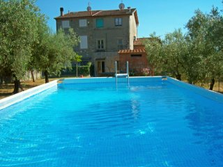 Huge PANORAMIC house in the Lucca hills. Oliveyard with swimming pool