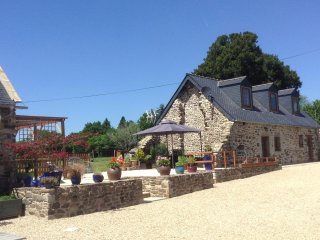 Fully renovated stone Gite on small farm