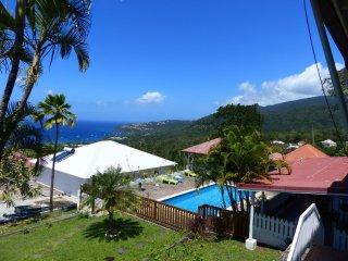 Paradis Creole F3 Zandoli piscine vue mer