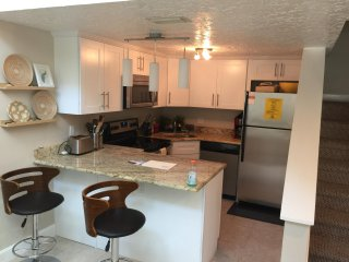 Updated Kitchen with stainless steel appliances and granite counters!
