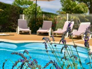 Heated/fenced private pool, village location