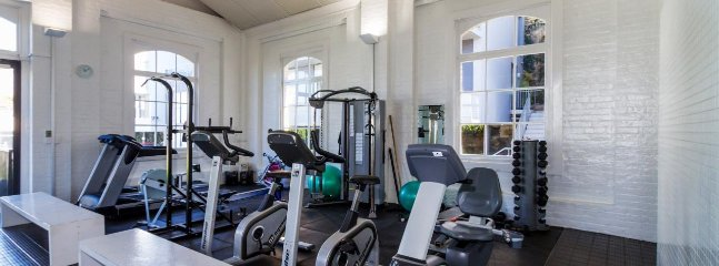 Gym with weights, treadmills, cycles and rowing machine