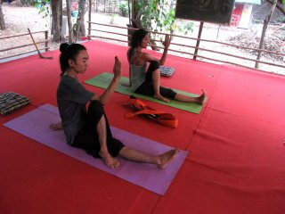 Hatha, ashtanga, vinyasa yoga by yoga. huts available on rent for stay in goa.