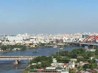 The LUXURY PENTHOUSE in Saigon with Water front and City View.