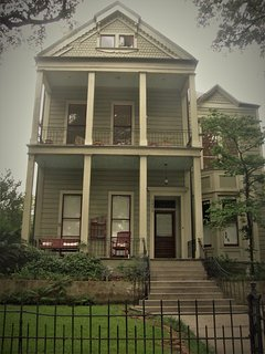 Street view from Louisiana Avenue.  Your apartment is located in close proximity to everything.