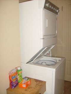New washer and dryer access
