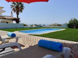 Appartement, vue magnifique sur la mer, terrasse, jardin et piscine d'eau sale