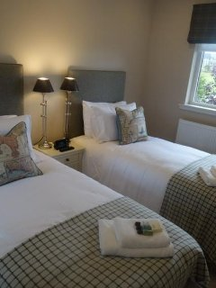 1 of the 3 twin bedded ensuite bedrooms