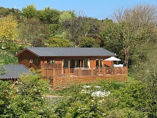 HIDEAWAY LODGE, luxurious, hot tub, open plan near Tintagel, Ref 951403