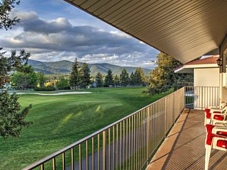 NEW! 2BR Blanchard Condo on Golf Course w/Mtn Views