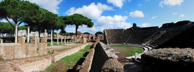 Perto das ruínas de Ostia Antica