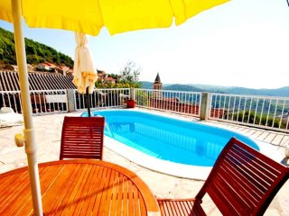 Two bedrooms with private pool, terrace and sea view
