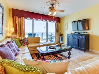 High-end oceanfront condo w/ water views & shared pools - easy beach access!
