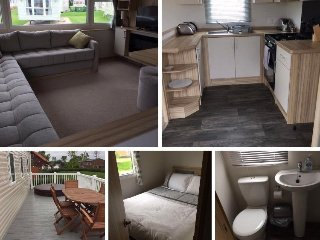 8 berth Luxury Caravan with Decking & hot tub