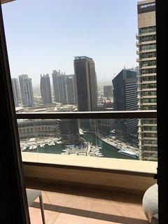 Sunny balcony...28 floors up!