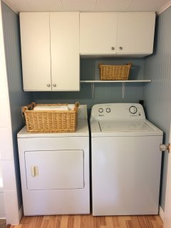 Washer and dryer for your use in the cottage.