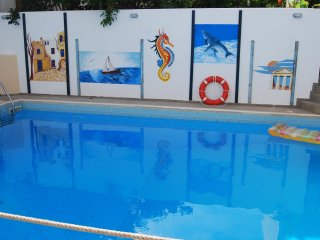 Apartment for 4 persons with swimming pool 2 min walk to the beach.