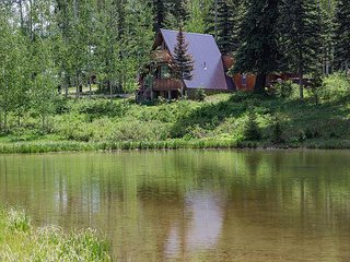 Cabin over looking Pond - Hot Tub - BBQ - 2 Miles from Purgatory