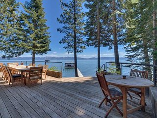 **Cathedral Pines -Very Private 6 BR West Shore Lake Front with Pier & Buoy**