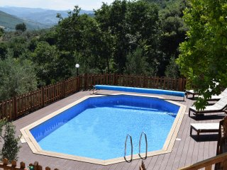 8m x 4m  pool  for your sole use surrounded by large deck area with sun loungers and parasols.