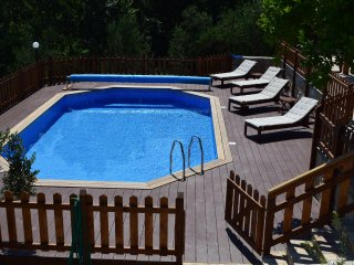 Pool and deck area totally enclosed so ideal for a family to relax and enjoy the pool.