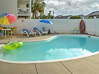 Surfside Beach Home w/Private Pool-Steps to Beach