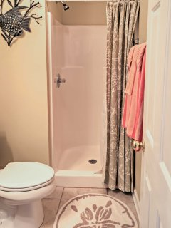 Rinse off the saltwater in this stand-up shower.