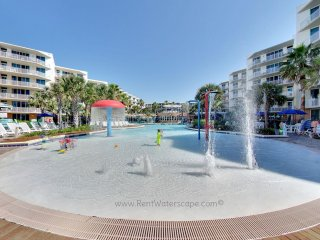 Waterscape B112, Ground Level, Lazy River, Waterslide, POOLS galore, BEACHFRONT!