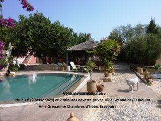 Villa Grenadine chambres d'hotes 7 Chambres   5 SdB   Piscine 16 couchages