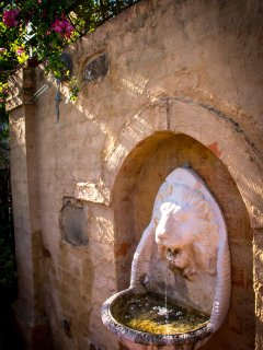 Courtyard fountain - Queen Bee Cottage