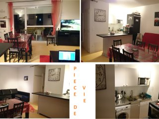 TRES BEL APPARTEMENT 45M² BIEN EQUIPE, balcon sud, wifi,garage